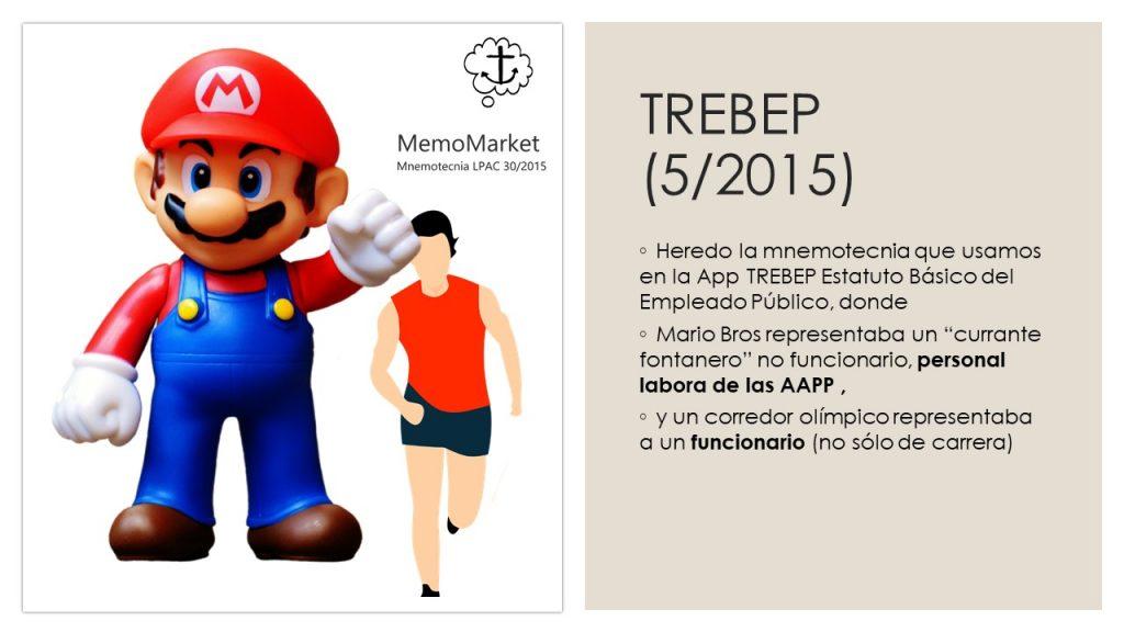 Tarjeta de memoria del curso Procedimiento Administrativo (LPAC) con mnemotecnia haciendo referencia al EBEP.